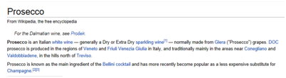 Wikipedia Prosecco Entry