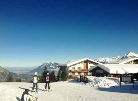 Skiing in Switzerland: not the same.  The actual slope in question!